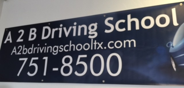 Banner for A2B Driving School